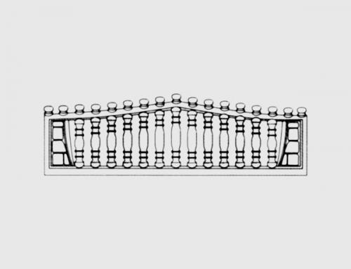 Бетонный забор тип 1