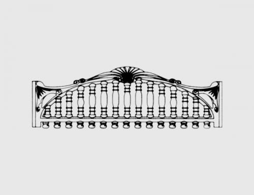Бетонный забор тип 2