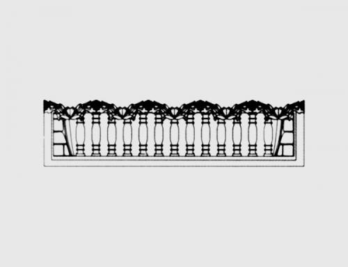 Бетонный забор тип 3